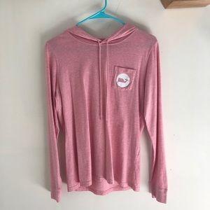 vineyard vines pink long sleeve hoodie